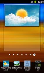 Samsung Galaxy S Advance - Startanleitung - Installieren von Widgets und Apps auf der Startseite - Schritt 6