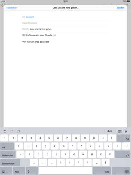Apple iPad Pro 12.9 inch - E-Mail - E-Mail versenden - Schritt 8