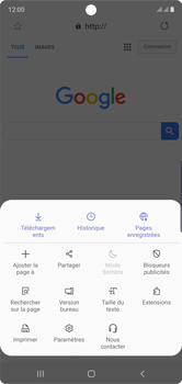 Samsung Galaxy Note 10 - Internet et roaming de données - Navigation sur Internet - Étape 9
