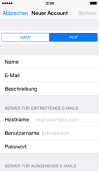 Apple iPhone 5s iOS 8 - E-Mail - Manuelle Konfiguration - Schritt 11