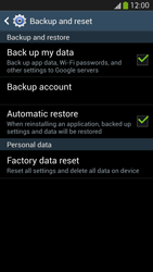 Samsung Galaxy S 4 LTE - Mobile phone - Resetting to factory settings - Step 6