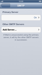 Apple iPhone 5 - E-mail - Manual configuration IMAP without SMTP verification - Step 16