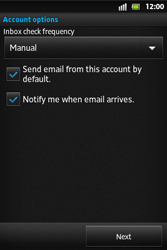 Sony ST27i Xperia Go - E-mail - Manual configuration - Step 13