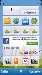 Nokia C6-00 - SMS - handmatig instellen - Stap 1