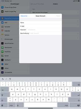 Apple iPad Pro 12.9 (2018) - ipados 13 - E-Mail - Manuelle Konfiguration - Schritt 8