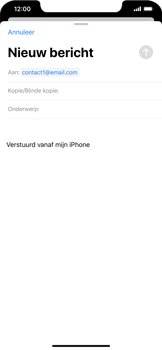 Apple iPhone XS Max - iOS 13 - E-mail - e-mail versturen - Stap 5
