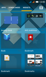 Alcatel One Touch Pop C3 - Getting started - installing widgets and applications on your start screen - Step 4