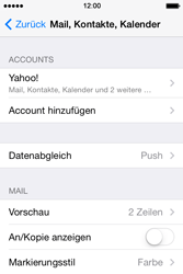 Apple iPhone 4 S - E-Mail - Konto einrichten (yahoo) - 0 / 0