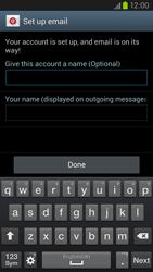 Samsung Galaxy S III LTE - E-mail - Manual configuration - Step 16