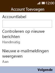 Nokia 8110 - E-mail - handmatig instellen - Stap 14