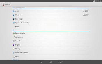 Sony Xperia Tablet Z2 LTE - Internet and data roaming - Disabling data roaming - Step 4