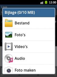 Samsung S5300 Galaxy Pocket - E-mail - Hoe te versturen - Stap 11