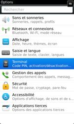 BlackBerry 9860 Torch - Paramètres - Reçus par SMS - Étape 4