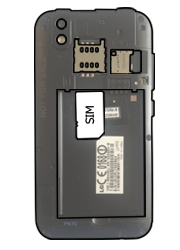 LG P970 Optimus Black - SIM-Karte - Einlegen - Schritt 3