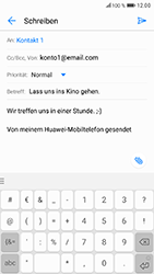 Huawei Honor 9 - E-Mail - E-Mail versenden - 11 / 19