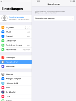 Apple iPad mini 2 - iOS 11 - Kontrollzentrum - 4 / 8