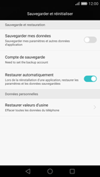 Huawei Ascend P8 - Téléphone mobile - Réinitialisation de la configuration d