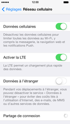 Apple iPhone 5 iOS 7 - Internet et roaming de données - Comment vérifier que la connexion des données est activée - Étape 5