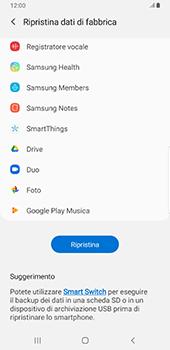 Samsung Galaxy S9 Plus - Android Pie - Dispositivo - Ripristino delle impostazioni originali - Fase 8