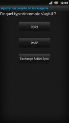 Sony ST25i Xperia U - E-mail - Configuration manuelle - Étape 7