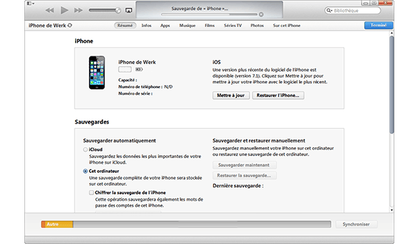 Apple iPhone 11 Pro - Aller plus loin - Gérer vos données avec un ordinateur - Étape 6