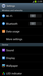 Samsung Galaxy S III LTE - Internet and data roaming - How to check if data-connectivity is enabled - Step 4