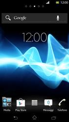 Sony Xperia T - Operazioni iniziali - Installazione di widget e applicazioni nella schermata iniziale - Fase 1