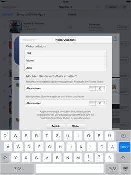 Apple iPad mini iOS 7 - Apps - Einrichten des App Stores - Schritt 15