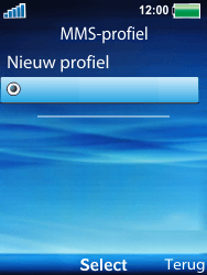 Sony Ericsson W100i Spiro - MMS - handmatig instellen - Stap 17