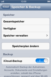 Apple iPhone 4S - Apps - Konfigurieren des Apple iCloud-Dienstes - Schritt 10