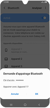 Samsung Galaxy A40 - Bluetooth - connexion Bluetooth - Étape 10