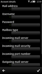Nokia 700 - Email - Manual configuration - Step 9