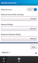 BlackBerry Z10 - Network - Manual network selection - Step 11