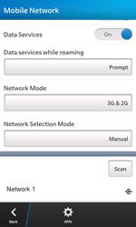 BlackBerry Z10 - Network - Manual network selection - Step 13
