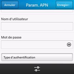 BlackBerry Q10 - Internet - configuration manuelle - Étape 10