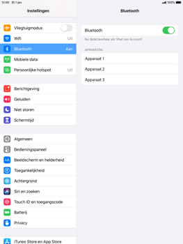 Apple ipad-air-2-met-ipados-13-model-a1567 - Bluetooth - Aanzetten - Stap 4