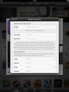 Apple iPad mini - Apps - Konto anlegen und einrichten - 12 / 21