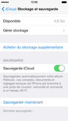 Apple iPhone 5s - Applications - configuration du service iCloud d