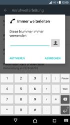 Sony Xperia XA - Anrufe - Rufumleitungen setzen und löschen - 7 / 9