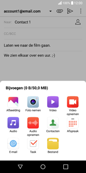 LG Q6 - e-mail - hoe te versturen - stap 12