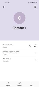 Huawei P40 Lite 5G - Contact, Appels, SMS/MMS - Ajouter un contact - Étape 11