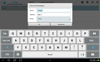 Samsung Galaxy Tab 2 10.1 - Internet und Datenroaming - Verwenden des Internets - Schritt 7
