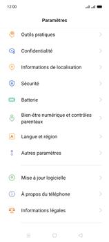 Oppo A15 - Aller plus loin - Mettre à jour le logiciel interne de votre mobile - Étape 5