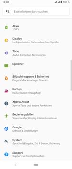 Sony Xperia 10 Plus - Fehlerbehebung - Handy zurücksetzen - Schritt 6