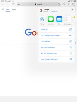Apple iPad mini (2019) - iPadOS 13 - Internet und Datenroaming - Verwenden des Internets - Schritt 6