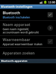 Samsung S5300 Galaxy Pocket - bluetooth - aanzetten - stap 6