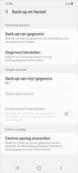 Samsung Galaxy S20 Ultra - toestel resetten - back-up maken met jouw account - stap 8