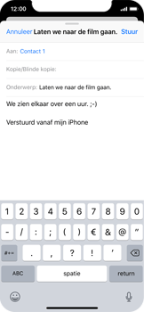 Apple iPhone X - e-mail - hoe te versturen - stap 8