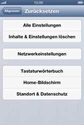 Apple iPhone 4S - Gerät - Zurücksetzen auf die Werkseinstellungen - Schritt 6