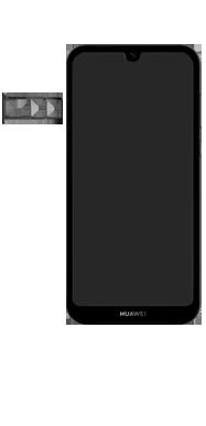 Huawei Y5 (2019) - Toestel - simkaart plaatsen - Stap 3